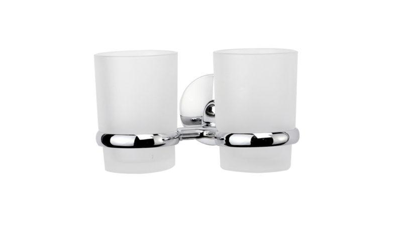 Demerx <br> <strong> Dubbel glashållare med 2 glas High Sicuro Line </strong>
