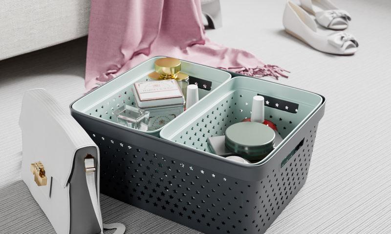 Nordiska Plast <br> <strong> Store It® Förvaringskorg Star Basket 4,5L Grön </strong>