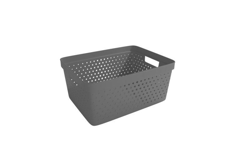 Nordiska Plast <br> <strong> Store It® Förvaringskorg Star Basket 13L Antracitgrå  </strong>