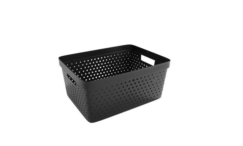 Nordiska Plast <br> <strong> Store It® Förvaringskorg Star Basket 13L Svart  </strong>