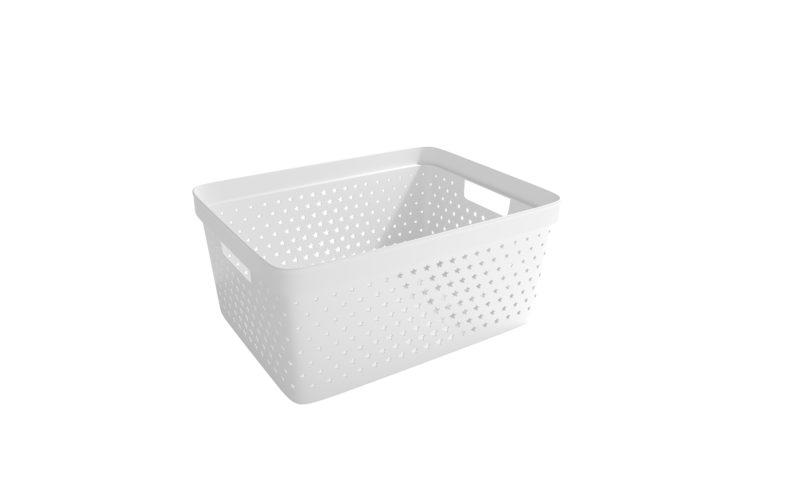 Nordiska Plast <br> <strong> Store It® Förvaringskorg Star Basket 13L Vit  </strong>