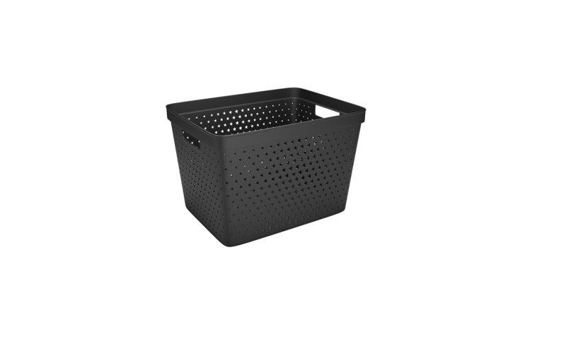 Nordiska Plast <br> <strong> Store It® Förvaringskorg Star Basket 19L Svart  </strong>