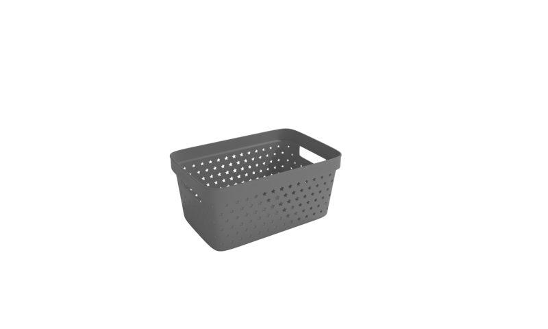 Nordiska Plast <br> <strong> Store It® Förvaringskorg Star Basket 4,5L Antracitgrå </strong>
