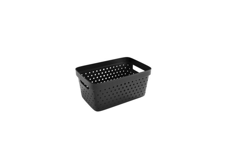 Nordiska Plast <br> <strong> Store It® Förvaringskorg Star Basket 4,5L Svart  </strong>