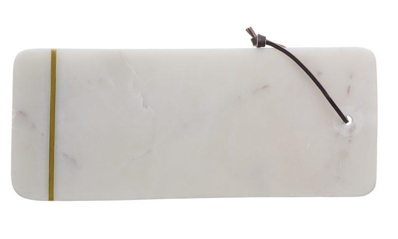 Bloomingville <br> <strong> Skärbräda vit marmor</strong>