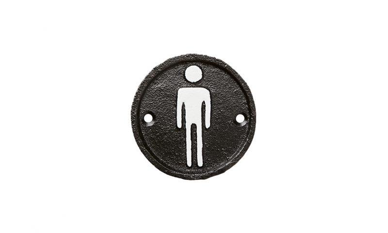 Affari <br> <strong> FACIA WC-Skylt, herr svart</strong>
