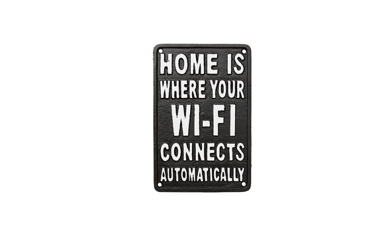 Affari <br> <strong> FACIA Skylt, Home is where your Wi-Fi</strong>